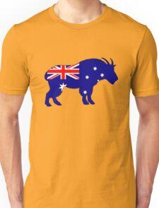 Australian Flag - Mountain Goat Unisex T-Shirt