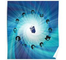 Doctor Who (Faces All) Clock Poster