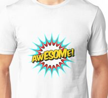 Comic Book Pop Style 'Awesome'. Unisex T-Shirt