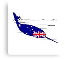 Australian Flag - Narwhal Canvas Print