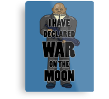 War on the Moon Metal Print