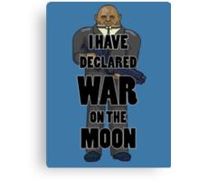 War on the Moon Canvas Print