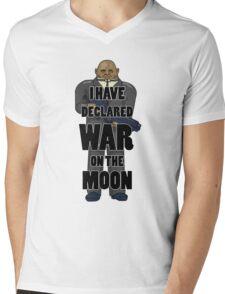 War on the Moon Mens V-Neck T-Shirt