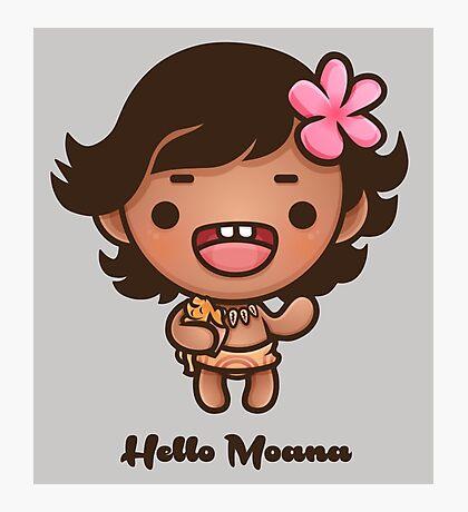 Hello Moana Photographic Print