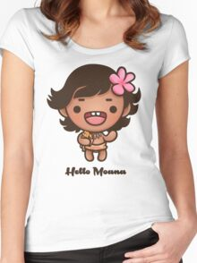 Hello Moana Women's Fitted Scoop T-Shirt