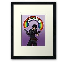 """Helping people and killing people are what I'm best at."" Framed Print"