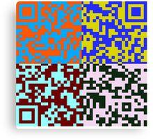 QR Code Nightmare Canvas Print