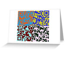 QR Code Nightmare Greeting Card