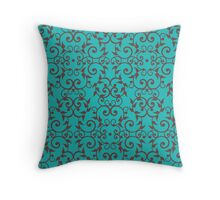 Scrolls and Leaves Pattern Throw Pillow