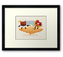 Old Fashioned Duel Framed Print