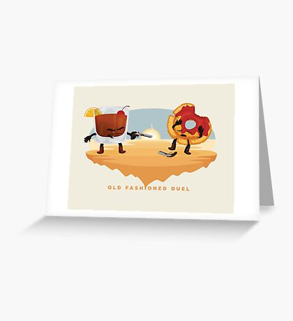Old Fashioned Duel Greeting Card