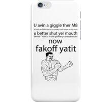 U wot m8 iPhone Case/Skin
