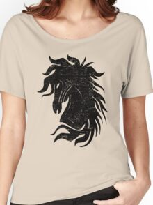 The Black Horse Women's Relaxed Fit T-Shirt