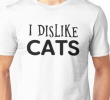 cat cats animal pets cool funny grumpy indie typography t shirts Unisex T-Shirt