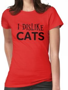 cat cats animal pets cool funny grumpy indie typography t shirts Womens Fitted T-Shirt