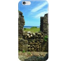 Looking through the ruins iPhone Case/Skin