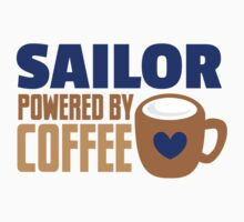 Sailor powered by coffee Kids Tee