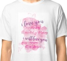 Vintage Love Quote Classic T-Shirt