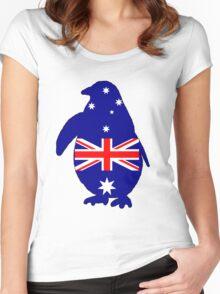 Australian Flag - Penguin Women's Fitted Scoop T-Shirt