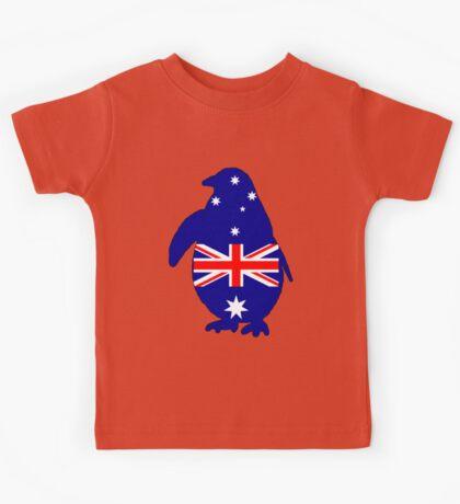 Australian Flag - Penguin Kids Tee
