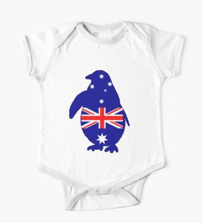 Australian Flag - Penguin One Piece - Short Sleeve
