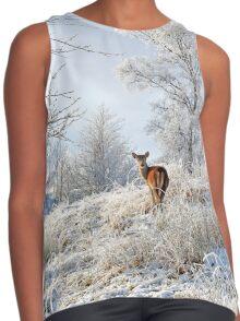 Glen Shiel Misty Winter Deer Contrast Tank
