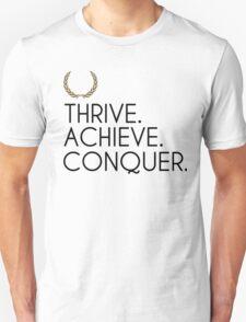 Zyzz Motivational Words + Logo (Large) T-Shirt