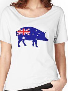 Australian Flag - Pig Women's Relaxed Fit T-Shirt