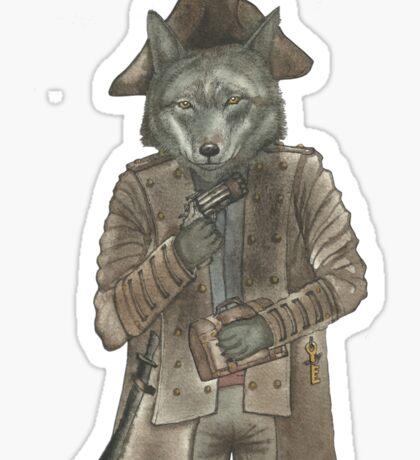 Pirate Wolf Sticker