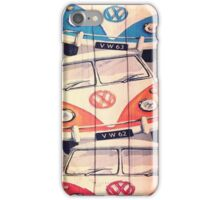 VW Buses Cool Painting iPhone Case/Skin