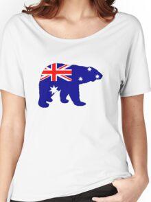 Australian Flag - Polar Bear Women's Relaxed Fit T-Shirt