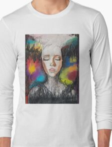 Abstract Portrait Long Sleeve T-Shirt