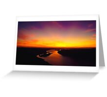 Sunset Over The Delaware Greeting Card