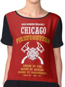 CHICAGO FIREFIGHTERS Chiffon Top