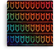 Orange Red Arrow Tribal Pattern Canvas Print