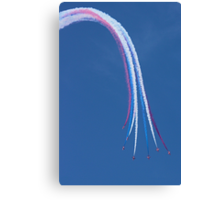 Parasol Break - The Red Arrows Farnborough 2014 Canvas Print