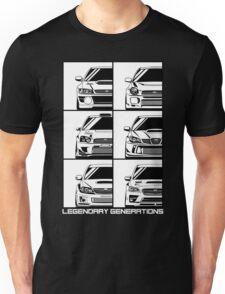 Subaru Impreza Generations Unisex T-Shirt