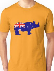 Australian Flag - Rhinoceros Unisex T-Shirt