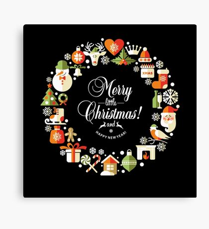 Merry christmas poster  Canvas Print