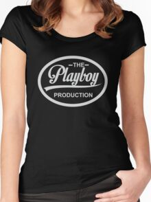 The Playboy Women's Fitted Scoop T-Shirt