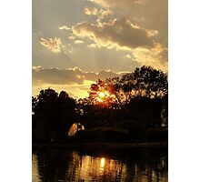 Golden Sunset Photographic Print