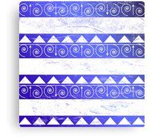 Blue Tribal Pattern  Canvas Print