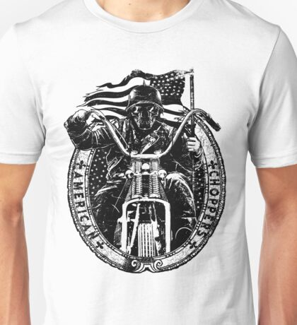 Motorcycle Chopper Stickers Unisex T-Shirt