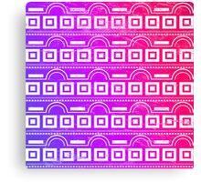 Purple Tribal Pattern Canvas Print