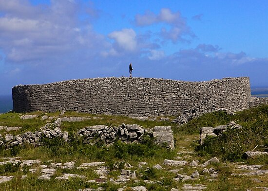 Dun Eochla Stone Fort - Inishmore by George Row