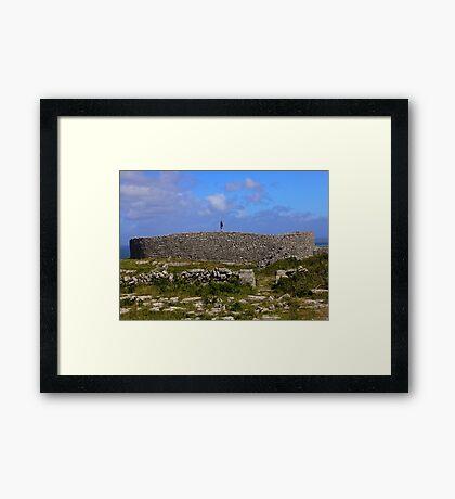 Dun Eochla Stone Fort - Inishmore Framed Print
