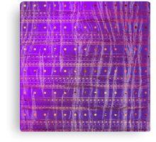 Gold Purple Tribal Pattern  Canvas Print