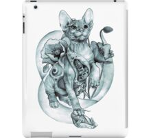RISHAMA steampunk tattoo cat kitten biomechanics mechanics vintage iPad Case/Skin