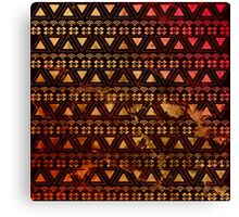 Gold Tribal Pattern  Canvas Print
