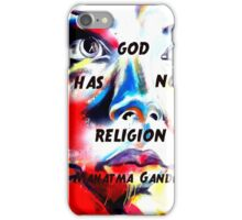 Gandhi Spiritual Quotation God Has No Religion iPhone Case/Skin